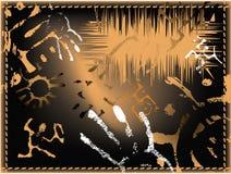 Symbols. Rock painting. Pictograph. Ancient theme. Illustration. Vector format Stock Photos