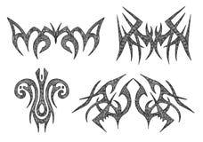 Symbols. Hand drawn symbols, illustration royalty free illustration