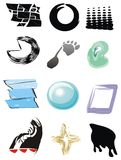 Symbols. Collection of tools symbols, mix colors and BTW Stock Image