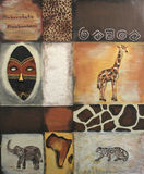 Symbols of Africa. A painting with symbols of Africa Stock Photography
