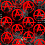 Symbols of anarchy punk pattern Royalty Free Stock Photography