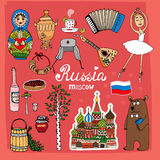 Symbols And Icons Of Russia Stock Image