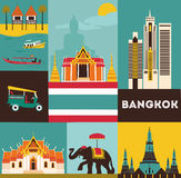 Symbols of Bangkok. Royalty Free Stock Images