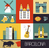 Symbols of Barcelona. Stock Images