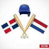 Symbols of Baseball team Dominican Republic and Royalty Free Stock Photos