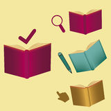 Symbols and books Royalty Free Stock Images