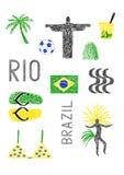 Symbols of Brazil ad rio de Janeiro Stock Photo