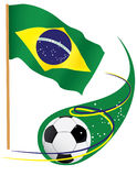 Symbols of Brazilian soccer Royalty Free Stock Photography