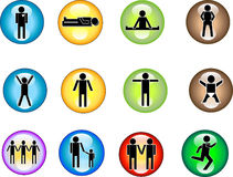 Symbols - Buttons Stock Photos