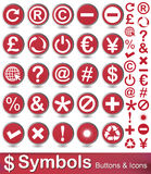 Symbols buttons and icons. Set of keyboard symbols  on white background Stock Photo