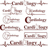 Symbols of cardiology Stock Photography