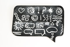 Symbols on Chalkboard Stock Photography
