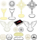 Symbols of Christianity. Symbols of the Christian religion Stock Images
