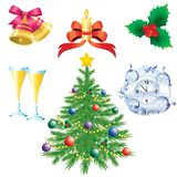 Symbols of Christmas Stock Image