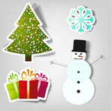 Symbols of Christmas and New Year. Ctor stickers. Symbols of Christmas and New Year Stock Photo