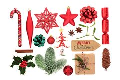 Symbols of Christmas Selection royalty free stock images