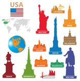 Symbols city USA. Illustration for you design Stock Photography