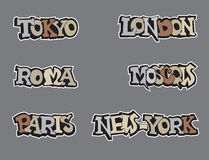 Symbols city world. Travel icon  set. Royalty Free Stock Photo