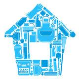 Symbols of a clean house Royalty Free Stock Photo