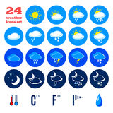 Symbols for climate changes  diagnostic Royalty Free Stock Photography