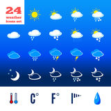 Symbols for climate changes  diagnostic Stock Photos