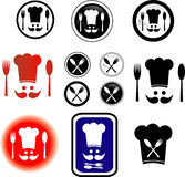 Symbols cook. Collection of vector symbols cook Royalty Free Stock Photo