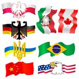 Symbols of countries Royalty Free Stock Image