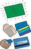 Symbols of Credit Cards Stock Photo