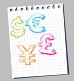 Symbols of currency Stock Photography