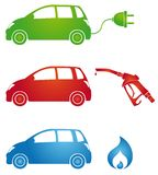 Symbols for different fuels Stock Images