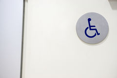 Symbols of disabled toilet Royalty Free Stock Photos