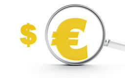 Symbols of dollar and euro Stock Photo