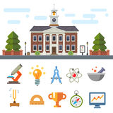 Symbols of Education and Science Stock Photography