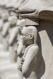 Symbols of Egypt. Symbols of Egypt in row Stock Photo