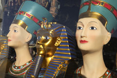 Symbols of Egypt. In local souvenir shop stock photo