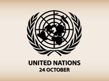 United Nations Logo. Symbols of Equal Rights in Nations vector background Stock Photography
