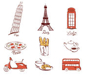 Symbols of European cities Stock Photo