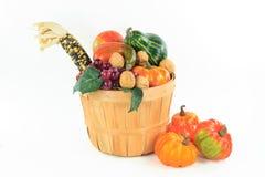 Symbols of Fall and Thanksgiving Day - horizontal. Royalty Free Stock Photos