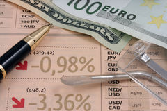Symbols of financial crisis Stock Photos