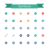 Symbols Flat Icons. Symbols flat isons set. Vector illustration Stock Photo