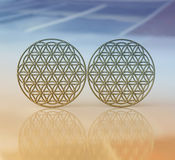 Symbols of  Flower of Life, Ancient Geometrical Shape Stock Images