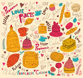 Symbols of food France Royalty Free Stock Photography