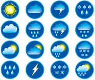 Symbols For Weather. Royalty Free Stock Photography