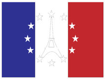 Symbols of France and EU Stock Image