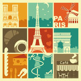 Symbols of France Stock Images