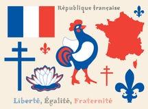 Symbols of French Republic stock image