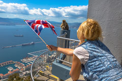 The symbols of Gibraltar Stock Image