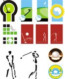 Symbols for a golf Stock Image