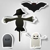 Symbols of Halloween Stock Photography