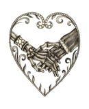 Symbols Hands Bone Love Wedding. Stock Images
